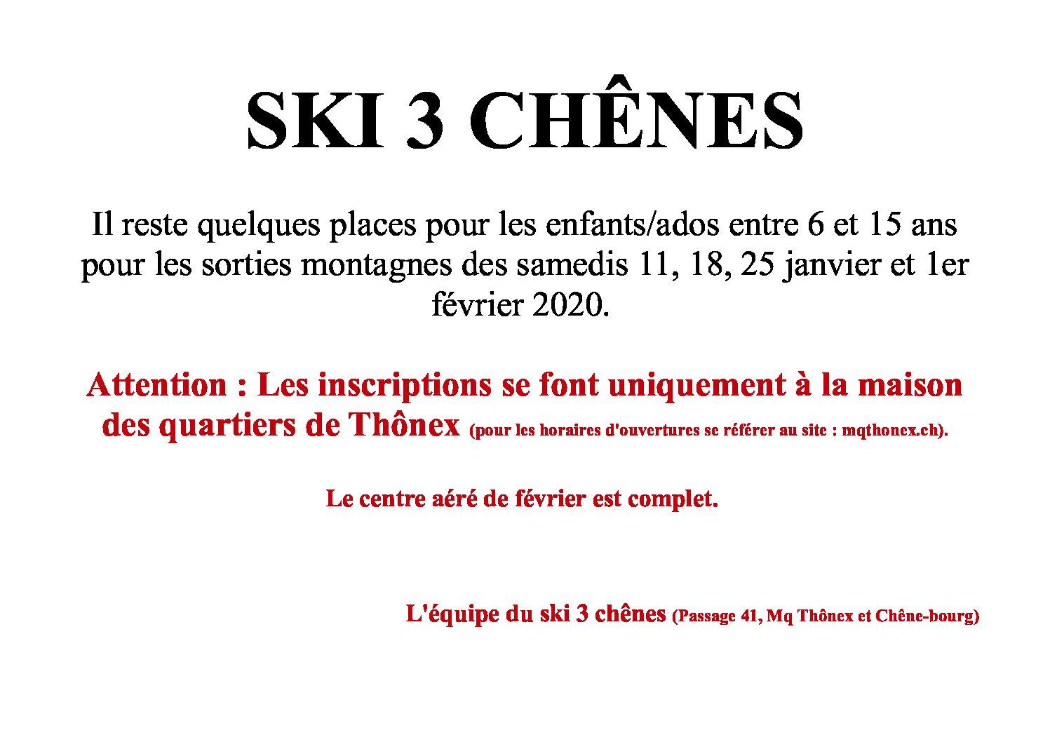ski 3 chênes